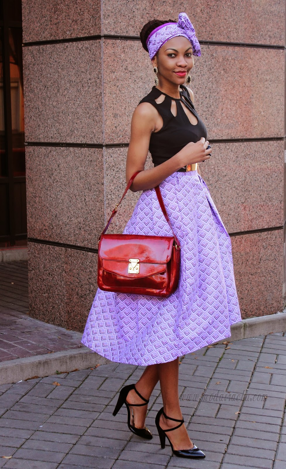 ankara full midi skirt